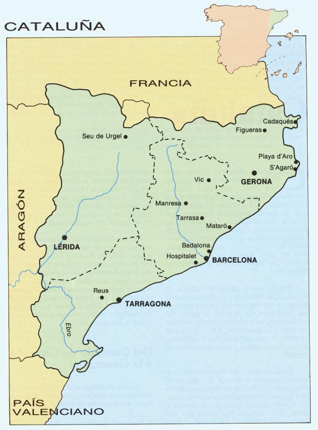 Rios De Cataluña Mapa.Cataluna