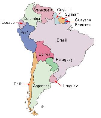 Mapa De Sudamerica Paises.Mapa De Suramerica